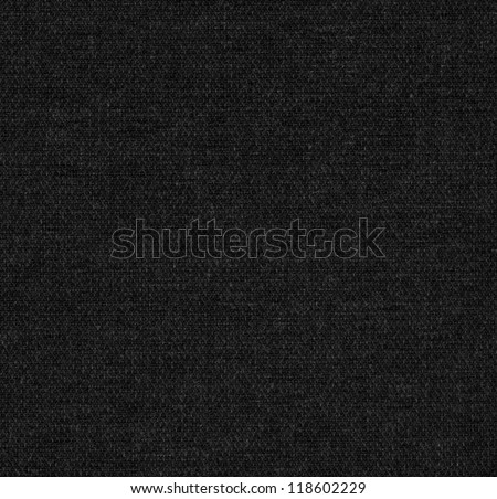 Black fabric texture detail (high. res. scan) - stock photo