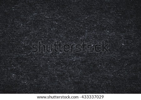 Black fabric texture for background. Black Linen and cotton mix texture.
