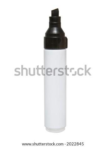 Black felt tip marker isolated on a white background - stock photo