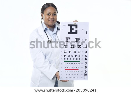 black female optometrist - stock photo