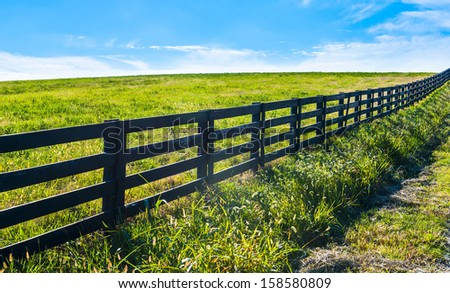 Black Fence - stock photo