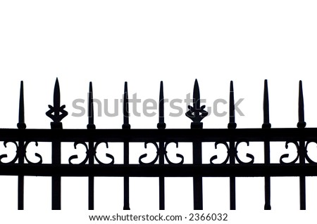 black fence silhouette