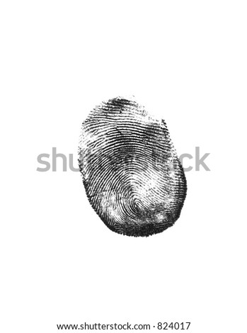 black finger print - stock photo