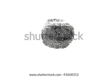 black fingerprint - stock photo