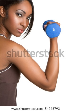 Black fitness woman - stock photo