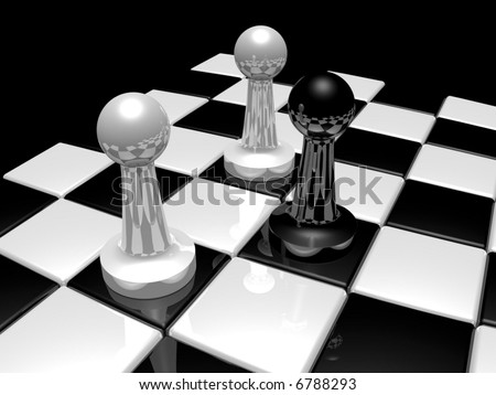 black force attacked - stock photo