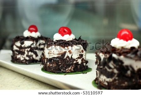 black forest in display - stock photo