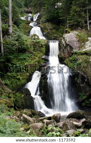 Black Forest Waterfall 3 - stock photo