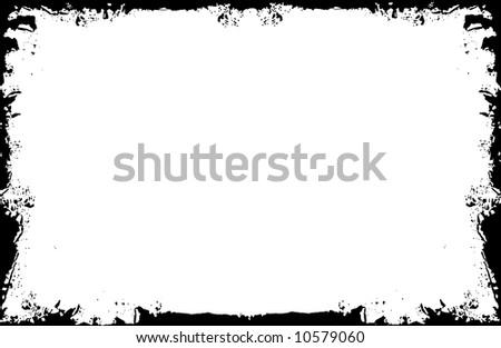Black frame - stock photo