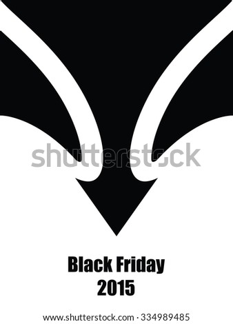 black friday abstract background - stock photo