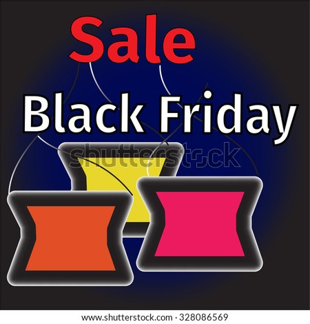 Black Friday advertising background illustration
