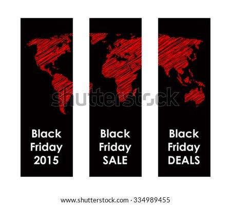 black friday banner - stock photo