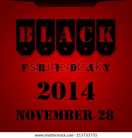 Black Friday 2014 red background