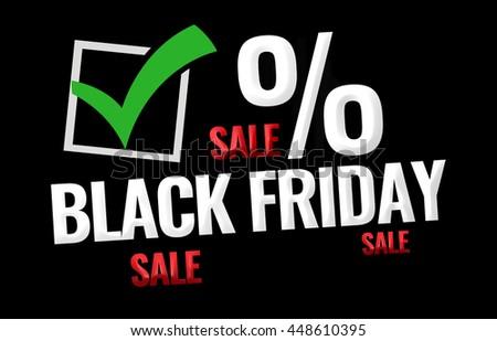 Black Friday Sale promotion display design - stock photo