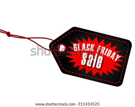 Black Friday sales tag - stock photo