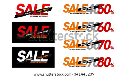 Black Friday sales tag. Grouped for easy editing. No open shapes or paths - stock photo