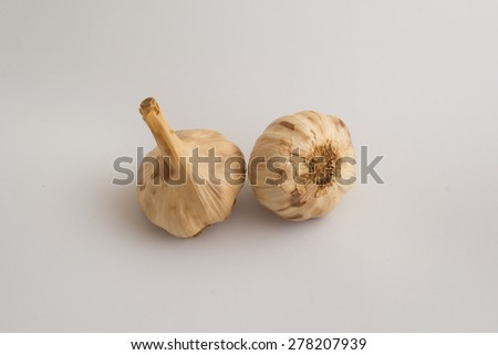 Black garlics 12 - stock photo