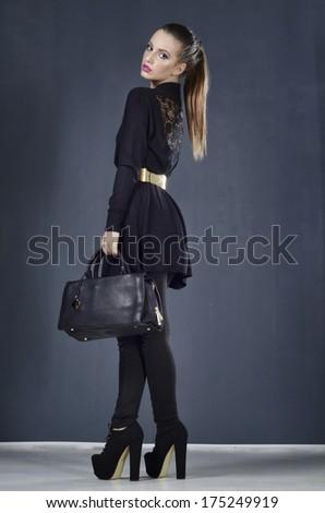 black gir - stock photo