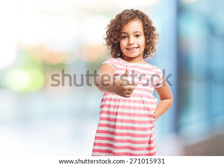 black girl okay sign - stock photo