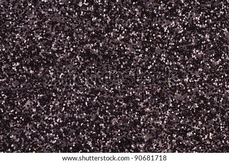 Black Glitter - stock photo