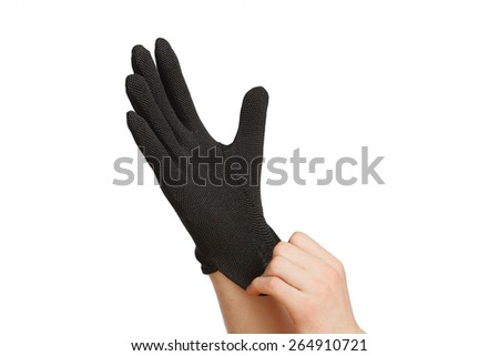 Black glove - stock photo