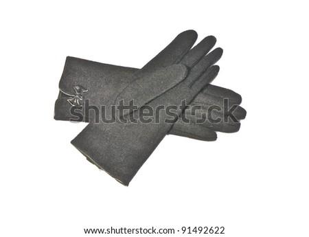 black gloves - stock photo