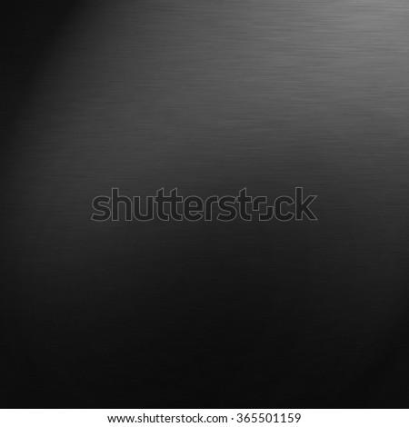 black gradient background stainless steel metal texture - stock photo