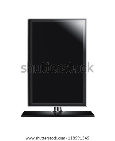 Black graphic computer monitor - stock photo