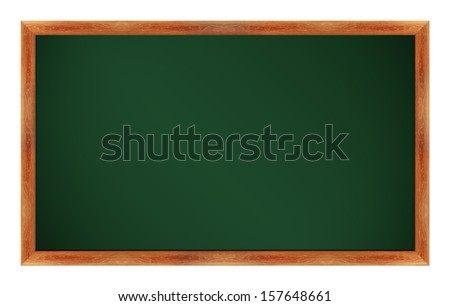 black Green chalk board . (with clipping work path) - stock photo