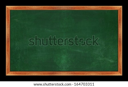 black Green chalk board . (with clipping work path)