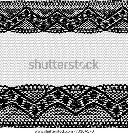 Black-grey lace background. Raster.