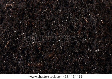 Black ground as a background close up - stock photo