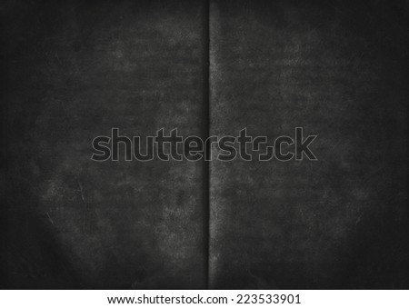 Black grunge background from old used paper texture - stock photo