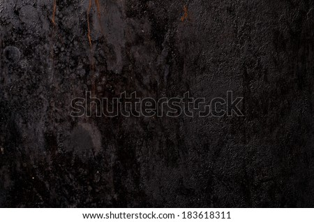 black grunge dirty metal background or texture - stock photo