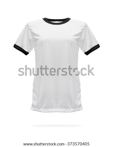Black gym shirt template on white background.