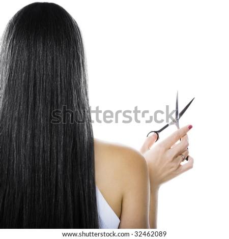 Black hair - stock photo