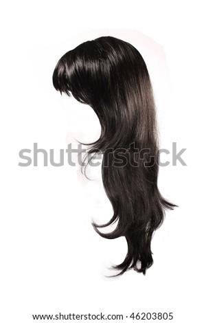 black  hair isolated - stock photo
