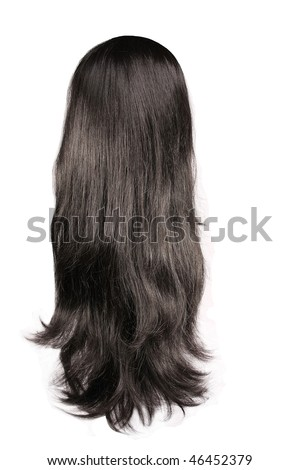 black  hair isolated on white - stock photo