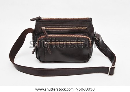 black hand bag on white background
