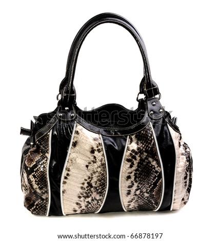 Black handbag - stock photo