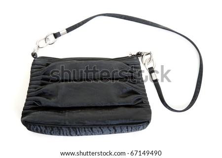 Black handbags isolated on a white background