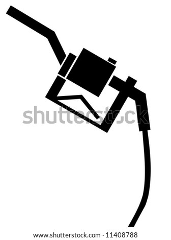 black handle from a gas or fuel pump - stock photo