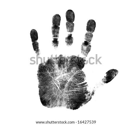 Black Handprint - stock photo