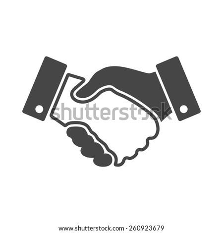 black handshake design icon - stock photo
