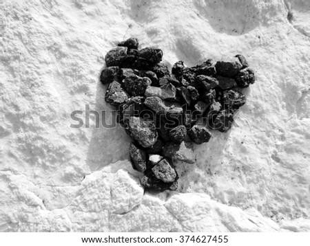 black heart - stock photo
