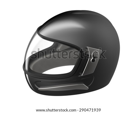 black helmet isolated on a white background.