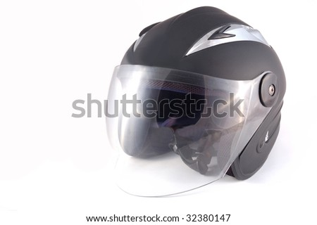 black helmet on a white background