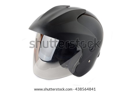 black helmet on white background