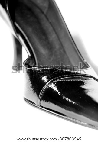 Black high heels isolated on white
