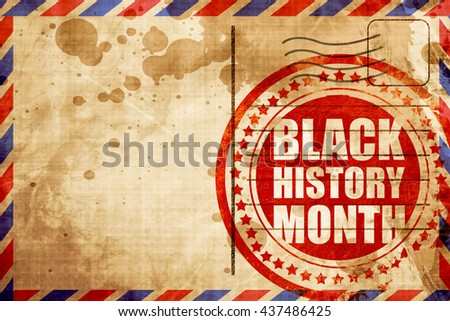 black history month - stock photo